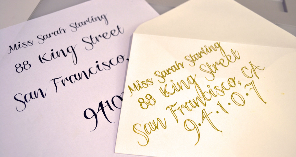 Easy diy calligraphy for your wedding invitations miss