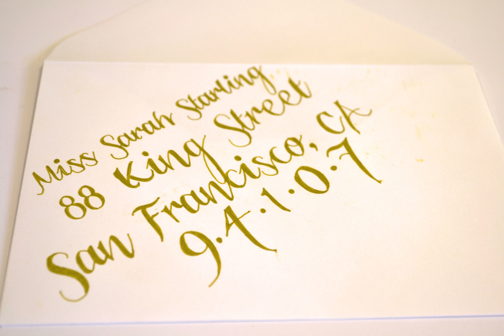 Easy DIY Calligraphy for Your Wedding Invitations - Miss ...