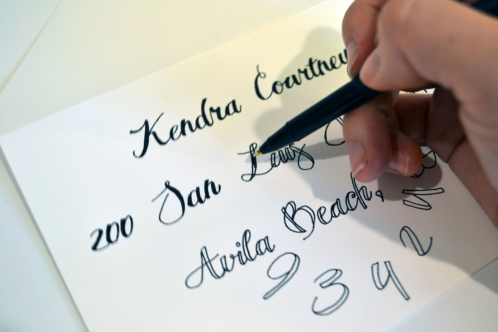 Easy diy calligraphy for your wedding invitations miss Easy calligraphy pen