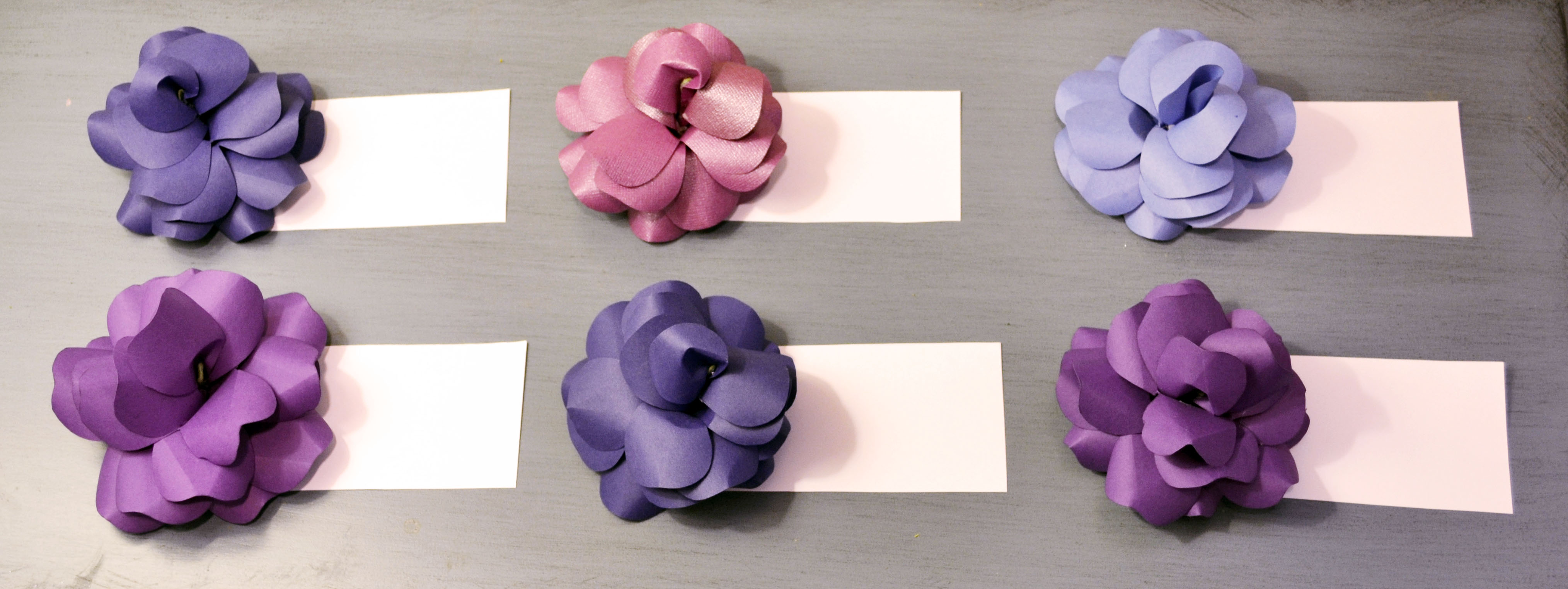 Diy Paper Flowers Unique Escort Cards For Your Wedding Miss Bizi Bee