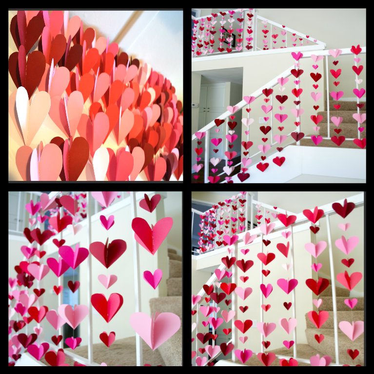 A valentine baby shower theme and how to pull it off for Home made valentine decorations