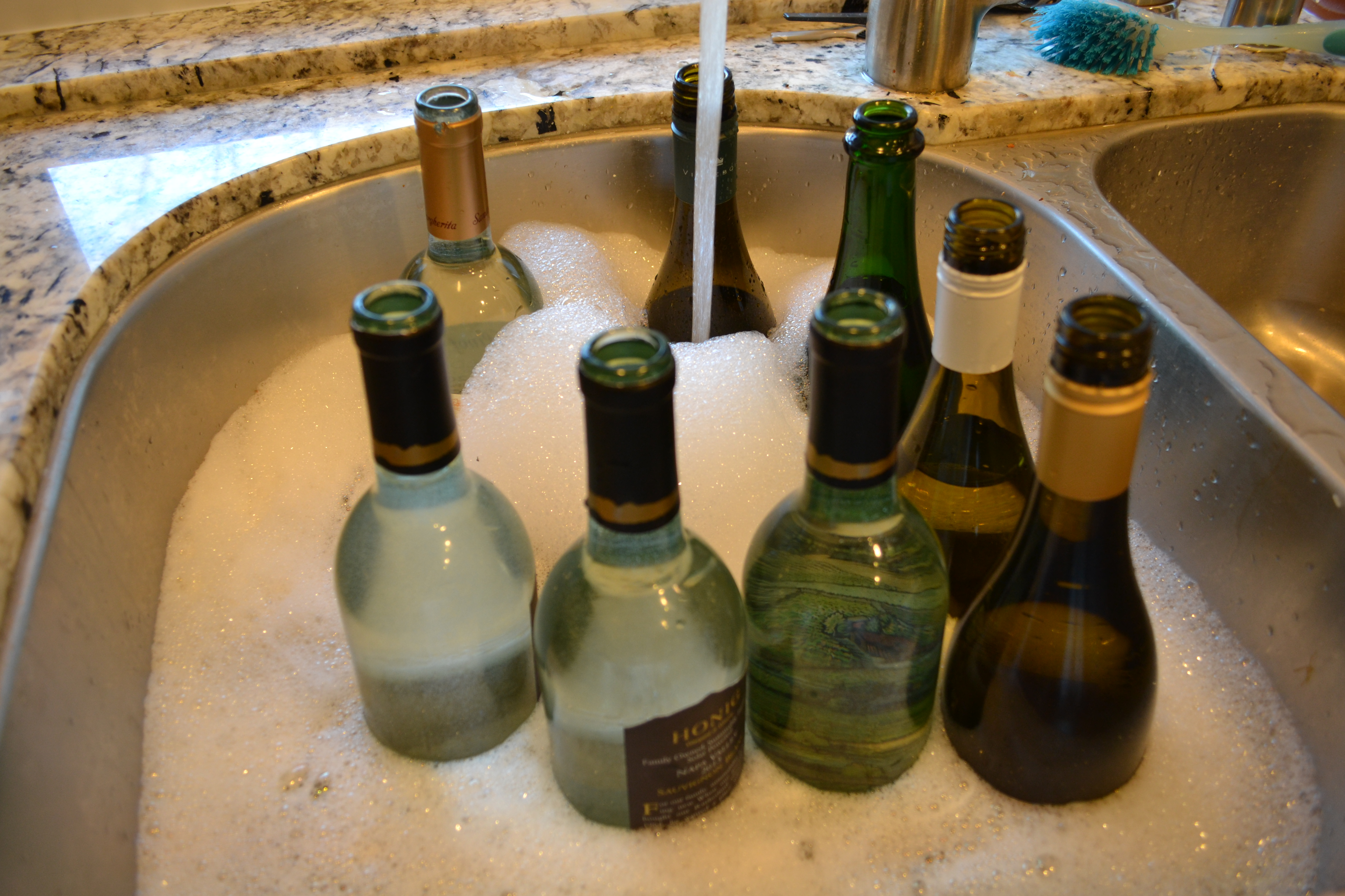 How to cut wine bottles to make vases miss bizi bee step 1 floridaeventfo Gallery