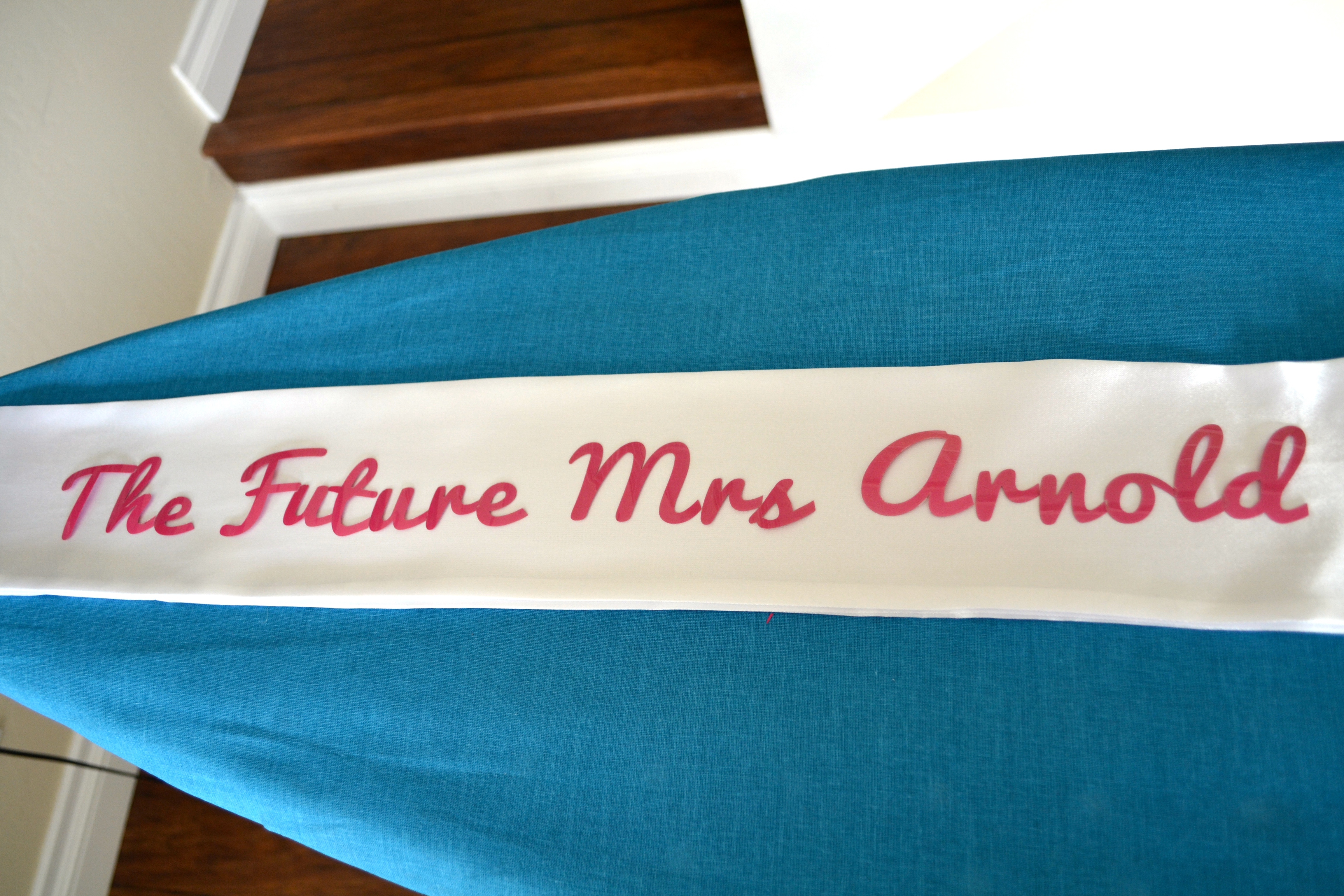 Diy decor for the bride to be a personalized bachelorette party bride to be sash solutioingenieria Choice Image