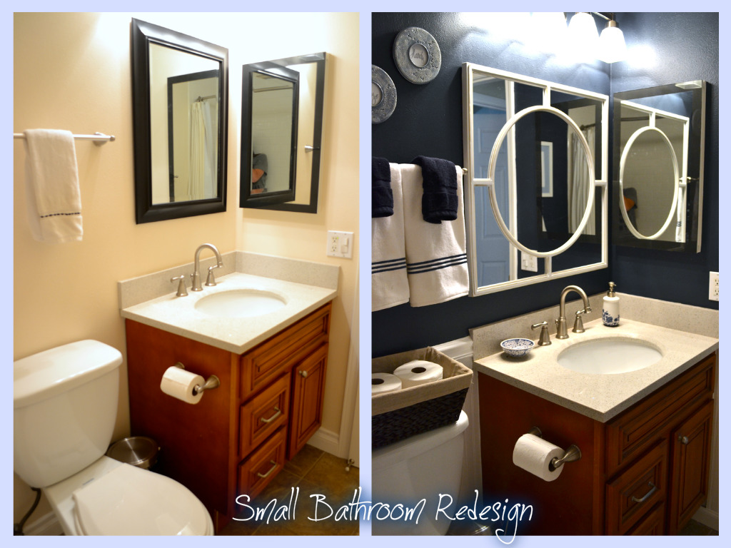 Diy home how to small bathroom design miss bizi bee Redesigning small bathrooms