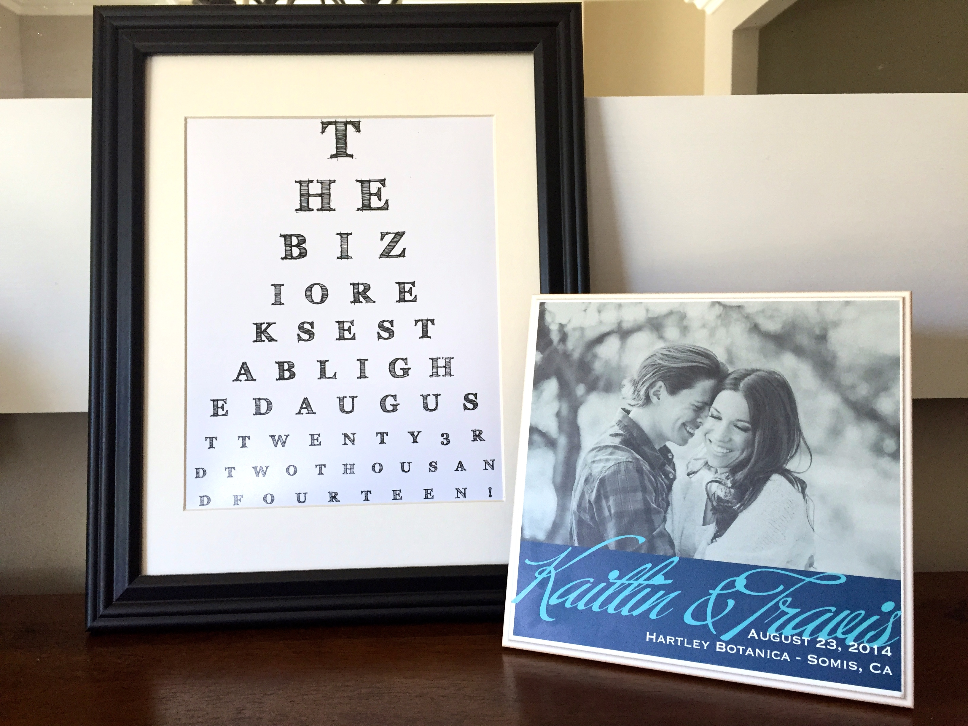 Customized eye chart maker great for personalized gifts and home wedding shower customized eye chart nvjuhfo Image collections