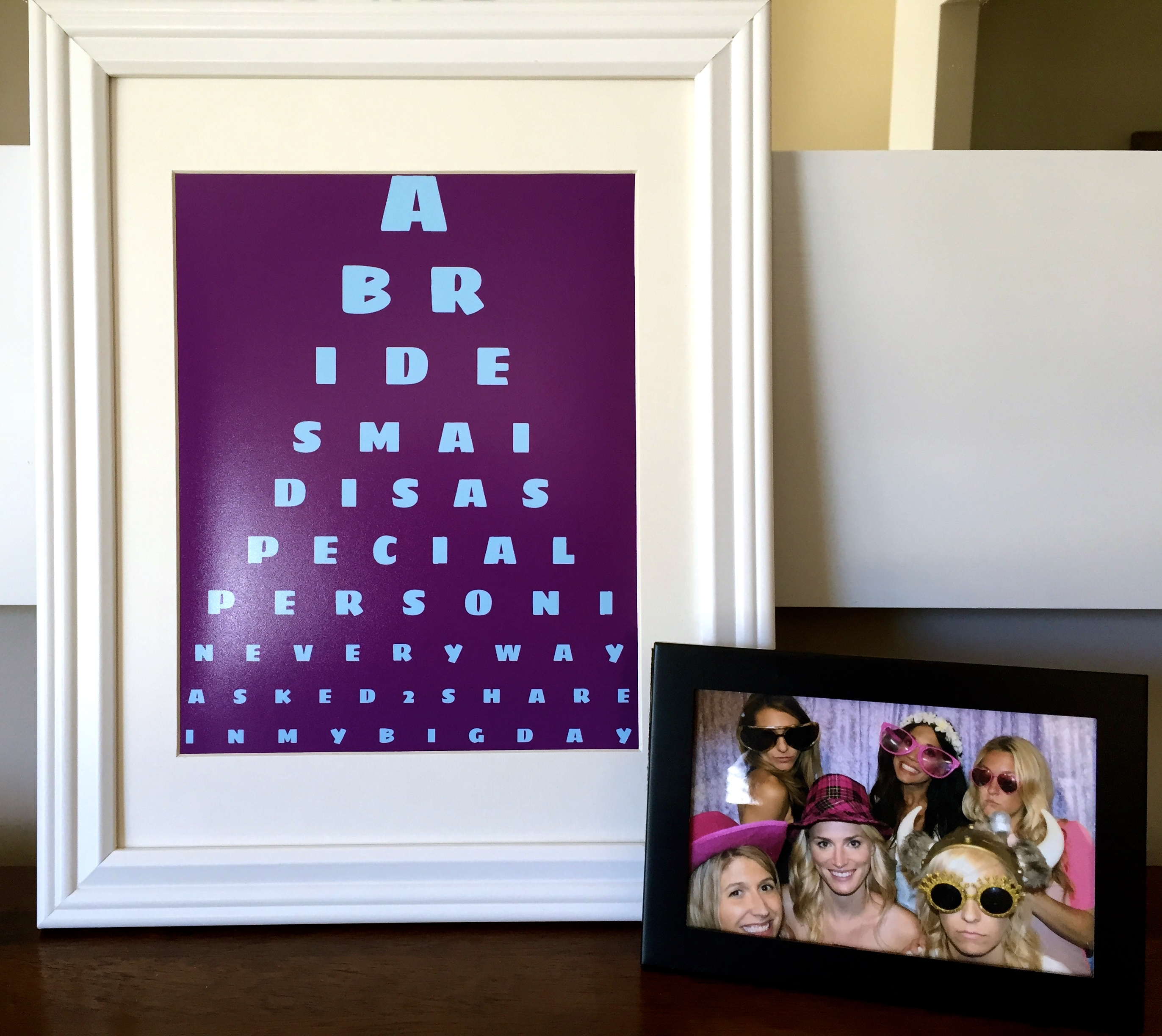Customized eye chart maker great for personalized gifts and home bridal party gifts customized eye chart nvjuhfo Image collections