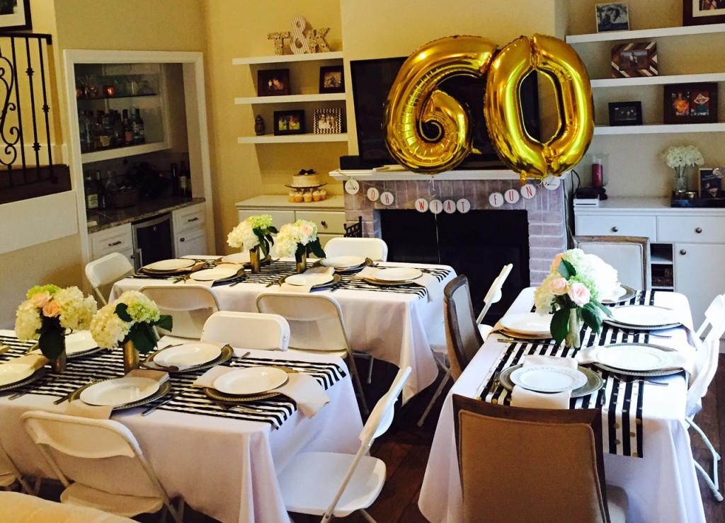 Golden celebration 60th birthday party ideas for mom for 60th birthday decoration