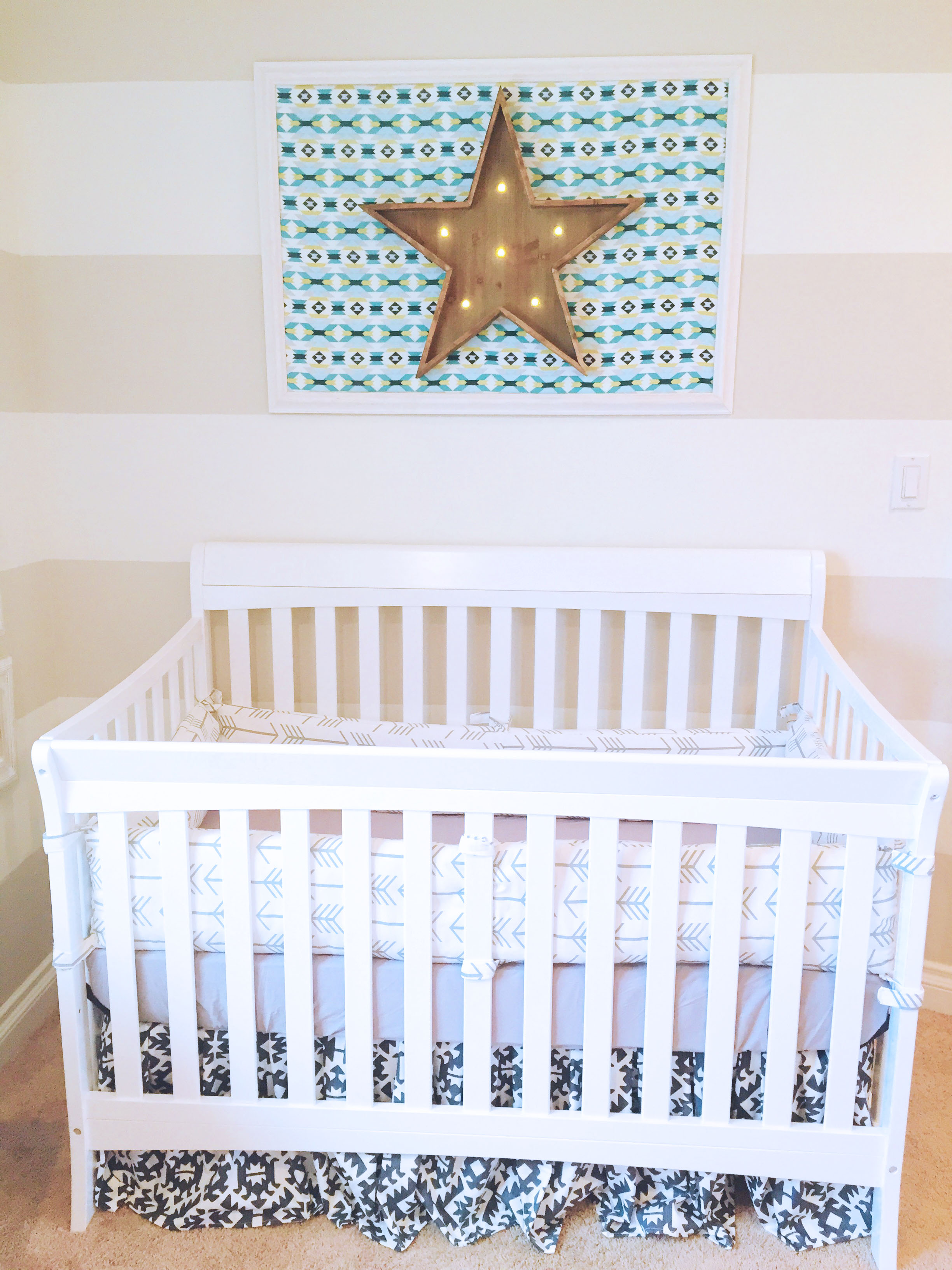 How to Make a Custom Photo Mat - Baby Nursery 101 - Miss Bizi Bee