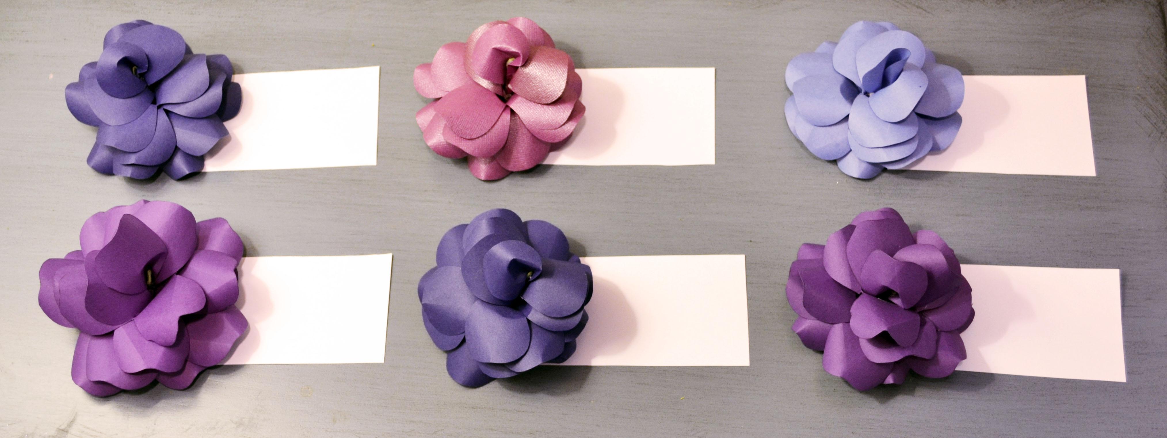 Diy Paper Flowers Unique Escort Cards For Your Wedding Miss Bizi Bee