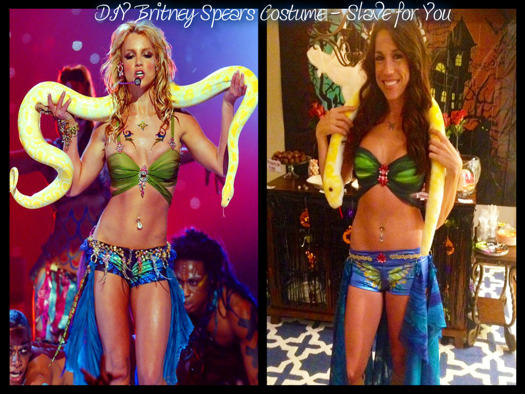 Diy Britney Spears Costume I M A Slave For You Miss Bizi Bee