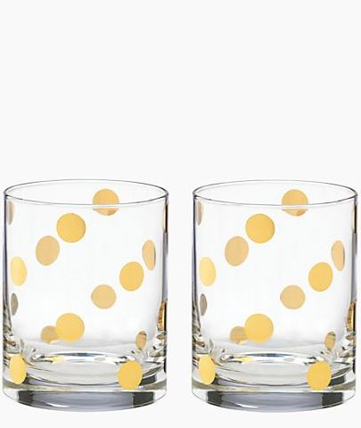 Diy Wine Glasses Gold Dot Kate Spade Knock Off Miss Bizi Bee