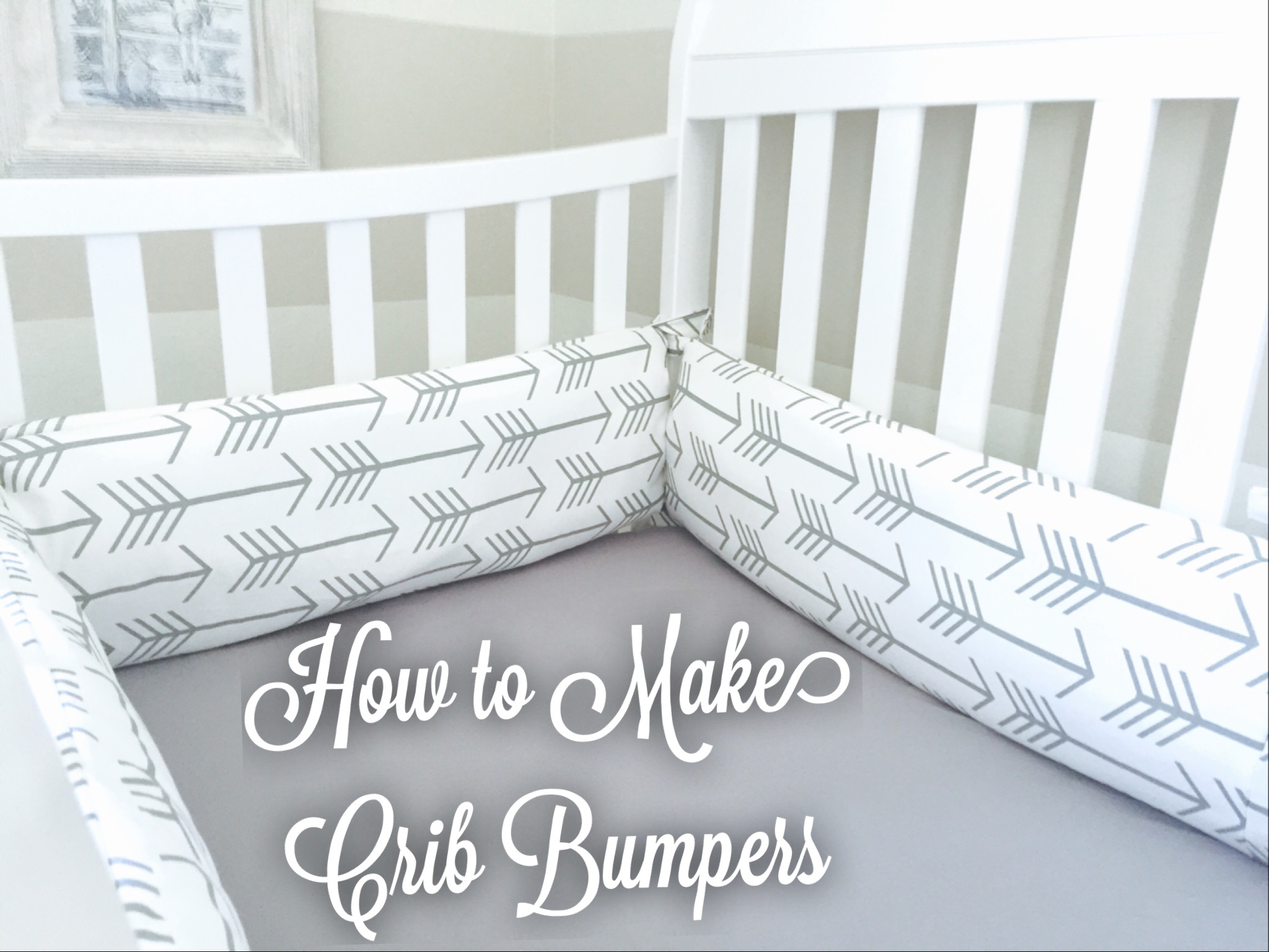 Baby Boy Nursery Part 3 How To Make Crib Bumpers Miss Bizi Bee