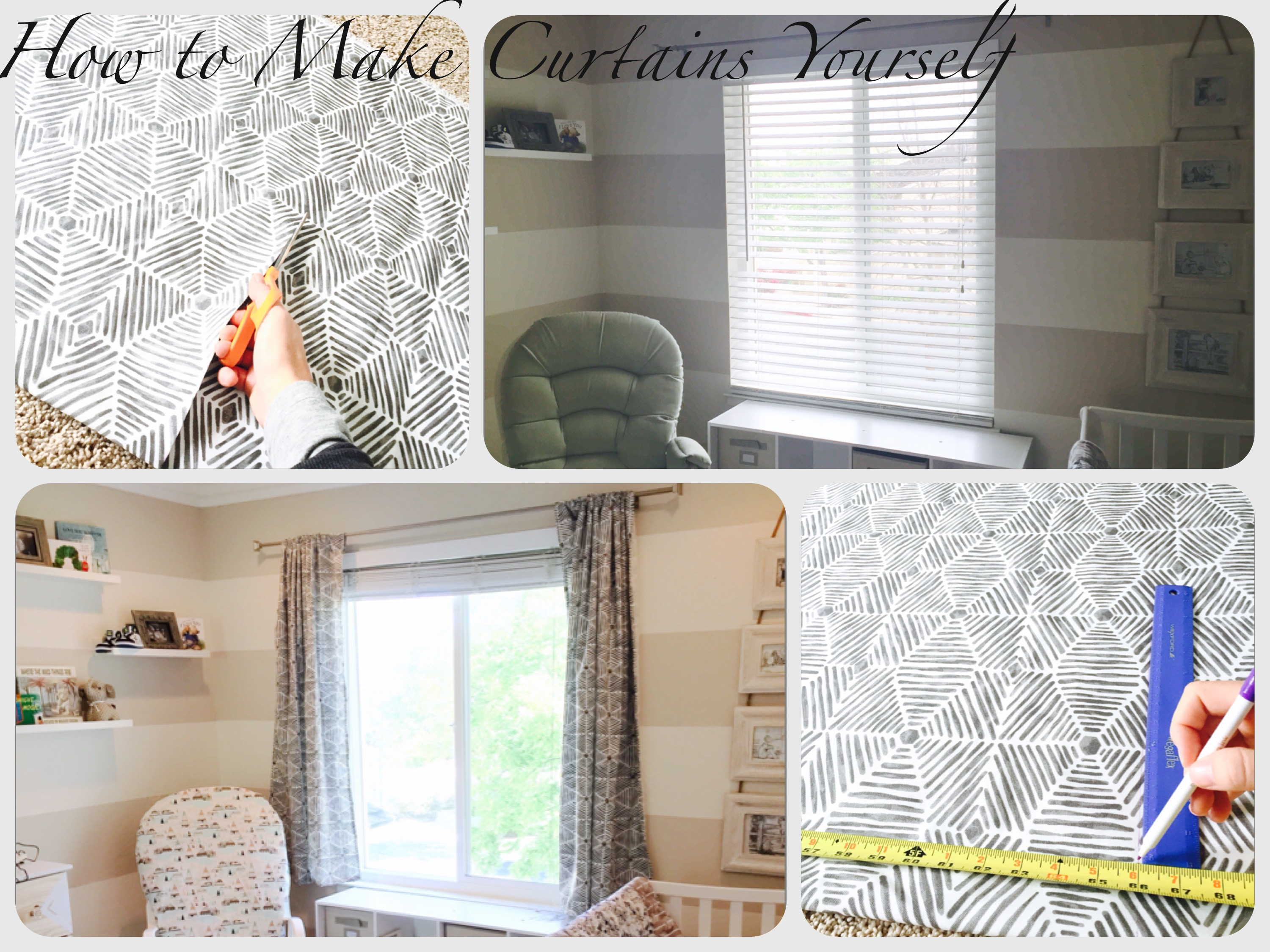 How To Make Curtains For Your Baby S Nursery Miss Bizi Bee